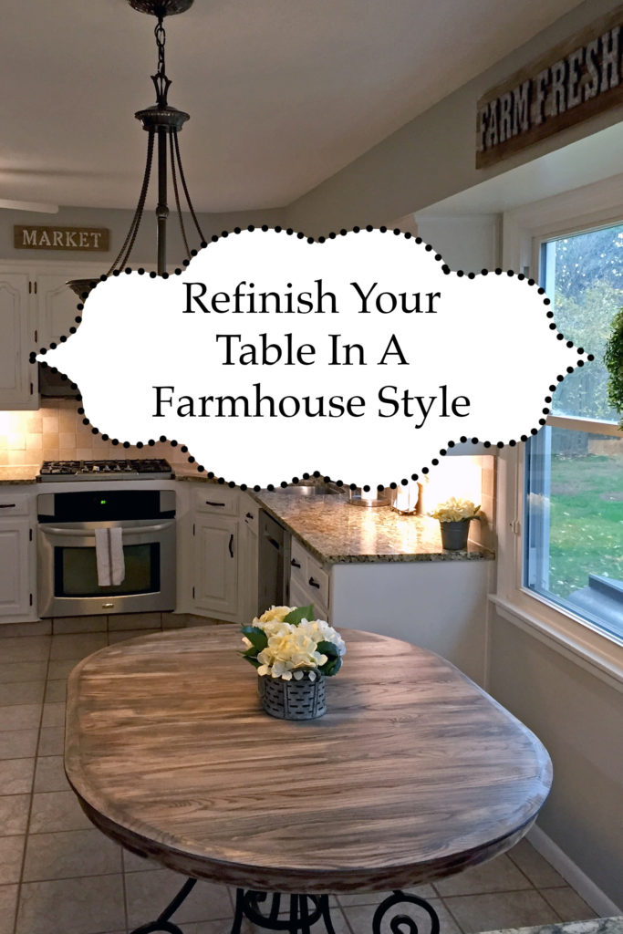 Refinish Kitchen Table in Farmhouse Style - The Kelly ...